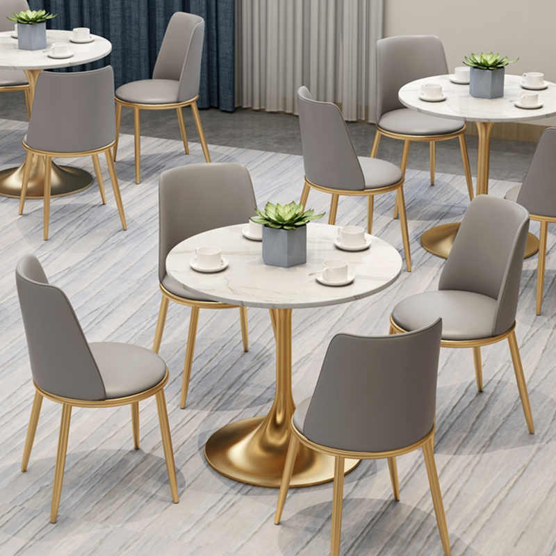 Elegant leather dining chair