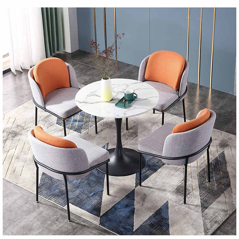 Popular Upholstery comfortable dining chair and table set