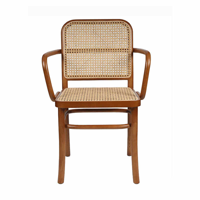 product-Popular hot sale rattan wood arm dining chair-Uptop Furnishings-img