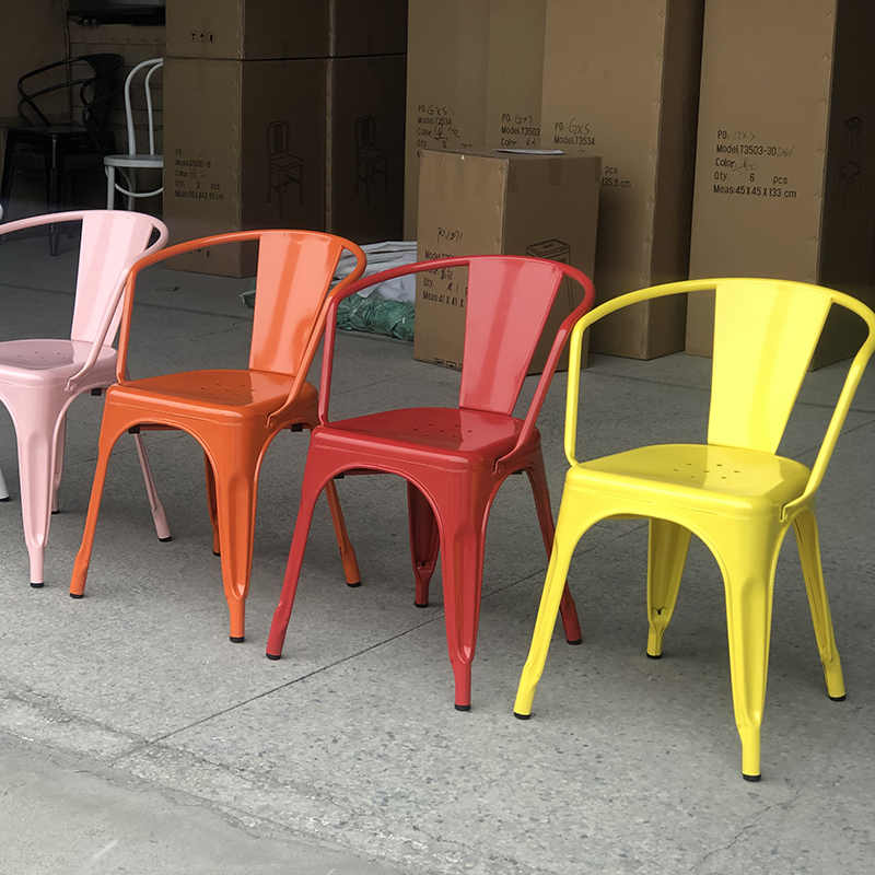 product-Uptop Furnishings-Colorful metal dining chair for restaurant-img