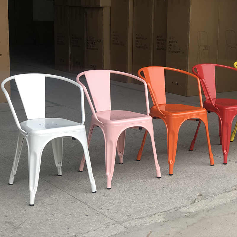 product-Colorful metal dining chair for restaurant-Uptop Furnishings-img