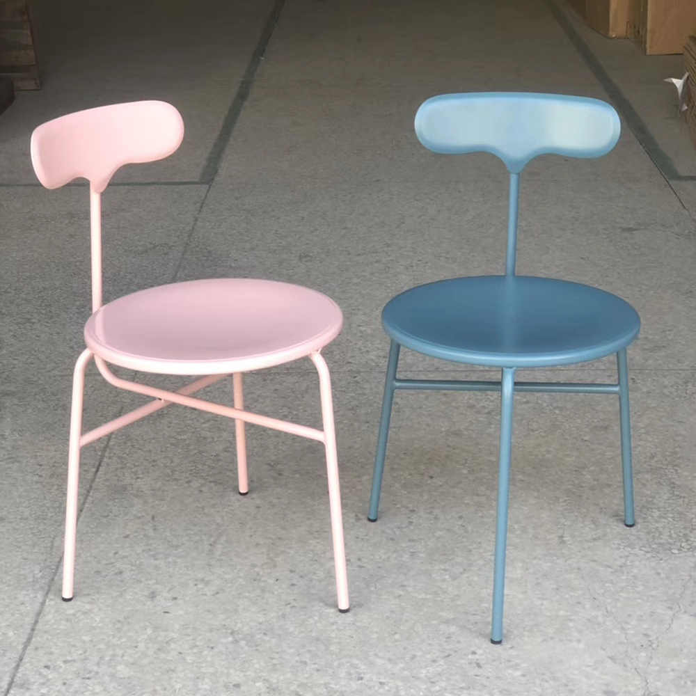 New style sample design metal frame chair