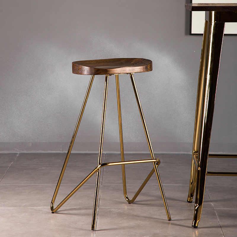 Sample design wood seat metal frame chair