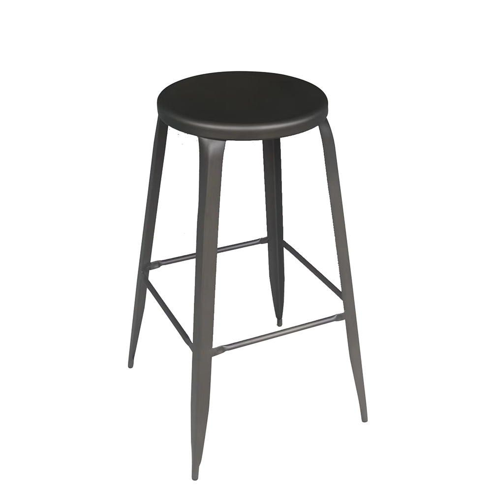 product-New Style Hot Selling Metal Round Bar Stool-Uptop Furnishings-img