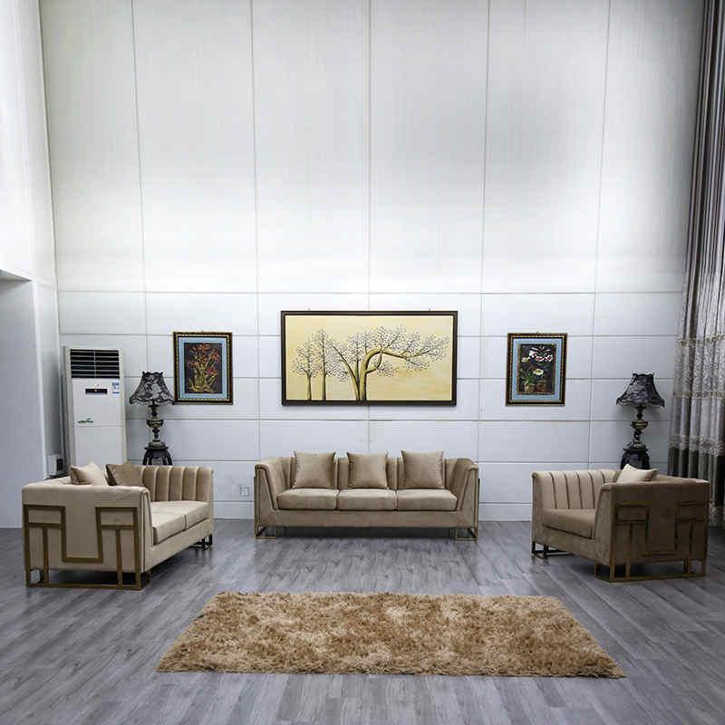 product-Three seater velvet luxury sofa living room furniture sofa set-Uptop Furnishings-img