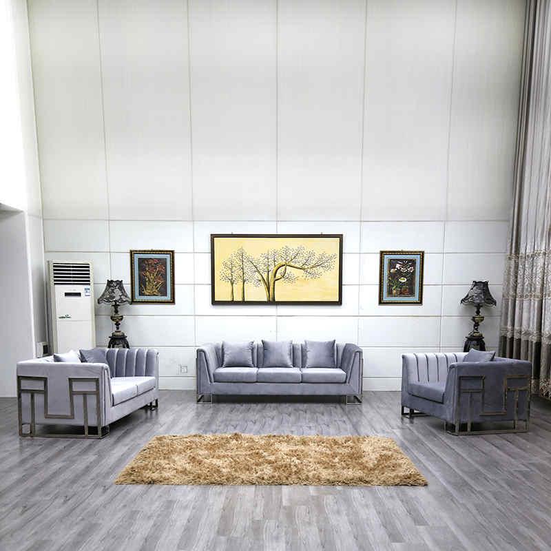 product-Uptop Furnishings-Three seater velvet luxury sofa living room furniture sofa set-img-1