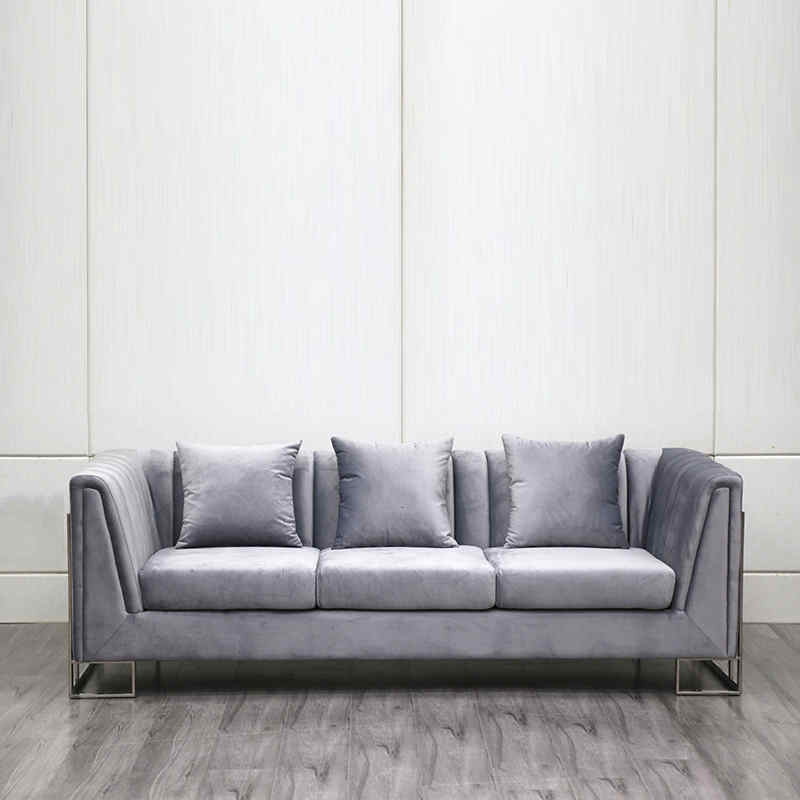product-Three seater velvet luxury sofa living room furniture sofa set-Uptop Furnishings-img-1