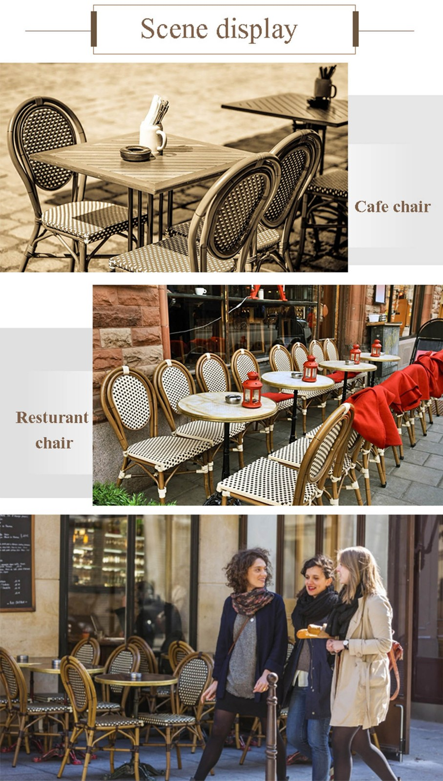 Uptop Furnishings scroll cafe chair factory price for restaurant-9