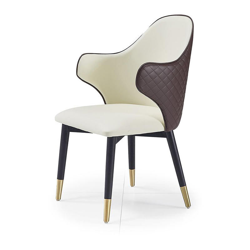 (SP-EC209) Creative solid wood upholstered stainless steel chairs for western restaurant
