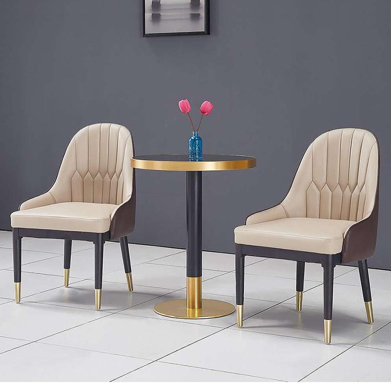 (SP-EC205) Luxury  solid wood stainless steel restaurant dinner chairs