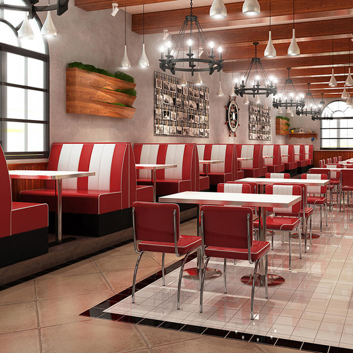 (SP-LC292) High quality 201stainless steel soft leather chair for fast food restaurant