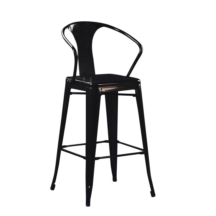 (SO-MC040) Vintage metal high chair for cafe bar used furniture