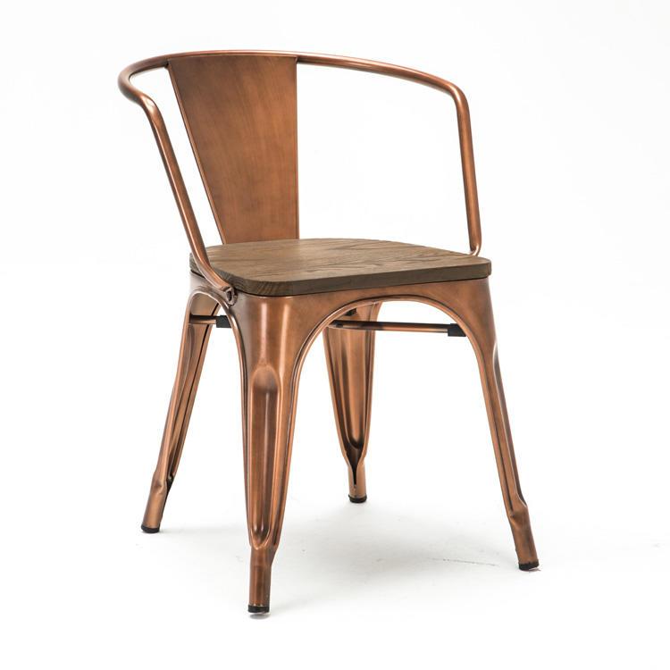 (SP-MC036) New design industrial vintage metal frame chair for sale