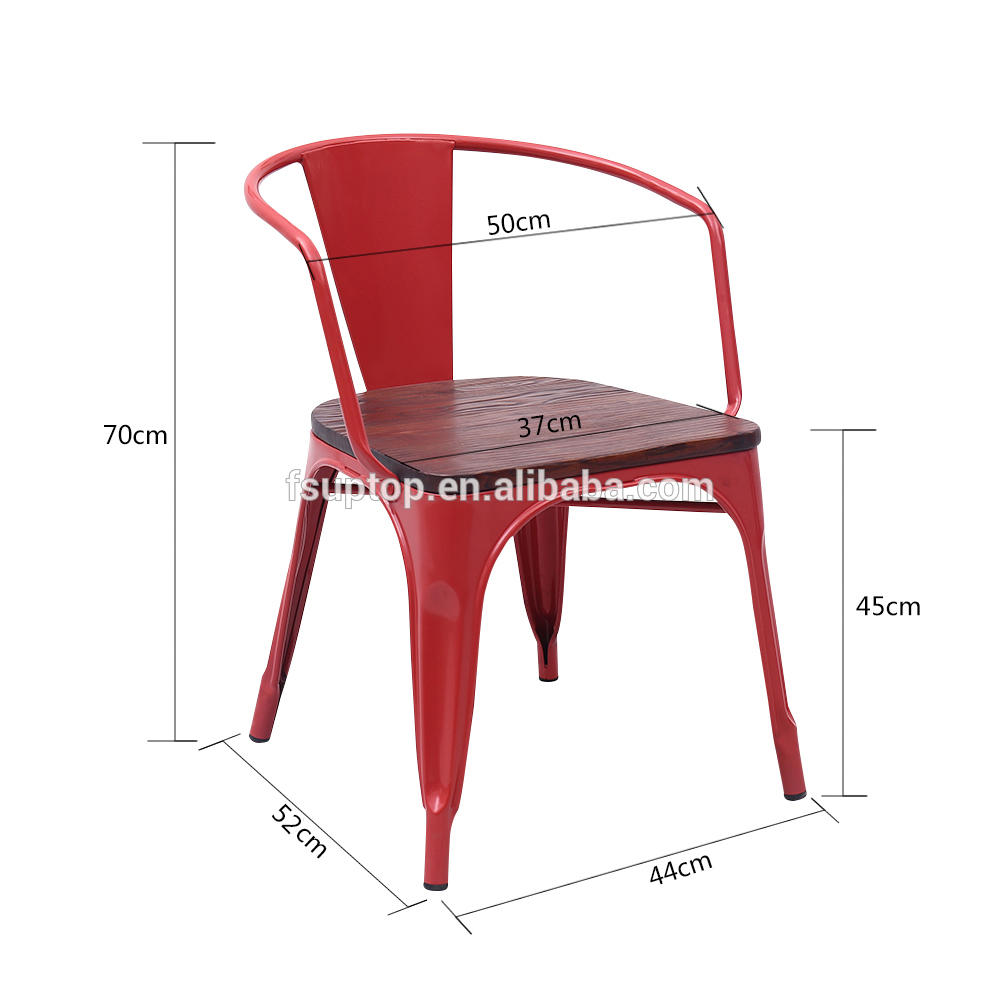 Uptop Furnishings stackable restaurant metal chair bulk production for restaurant