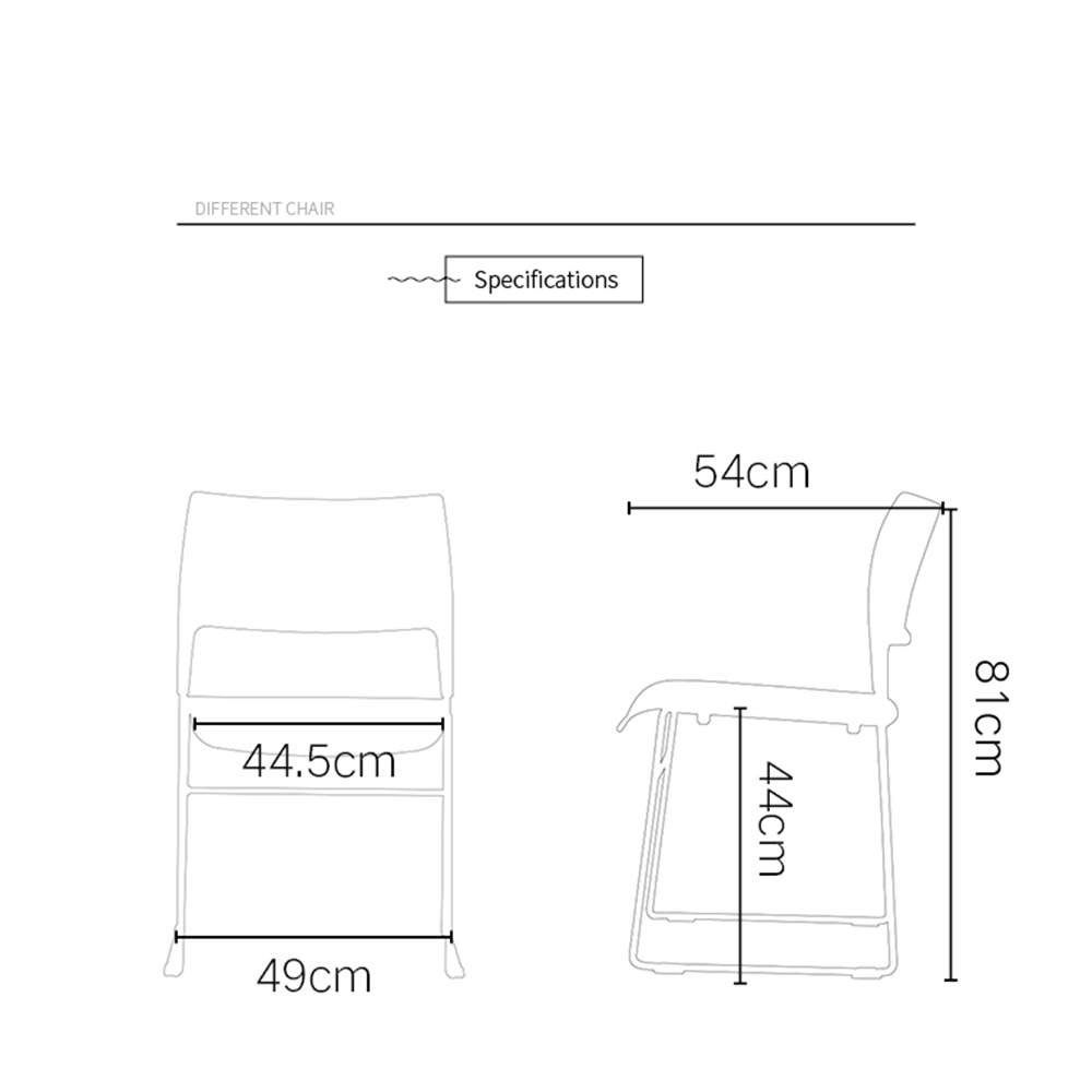 industry-leading stackable plastic chairs steel from manufacturer for hotel-5