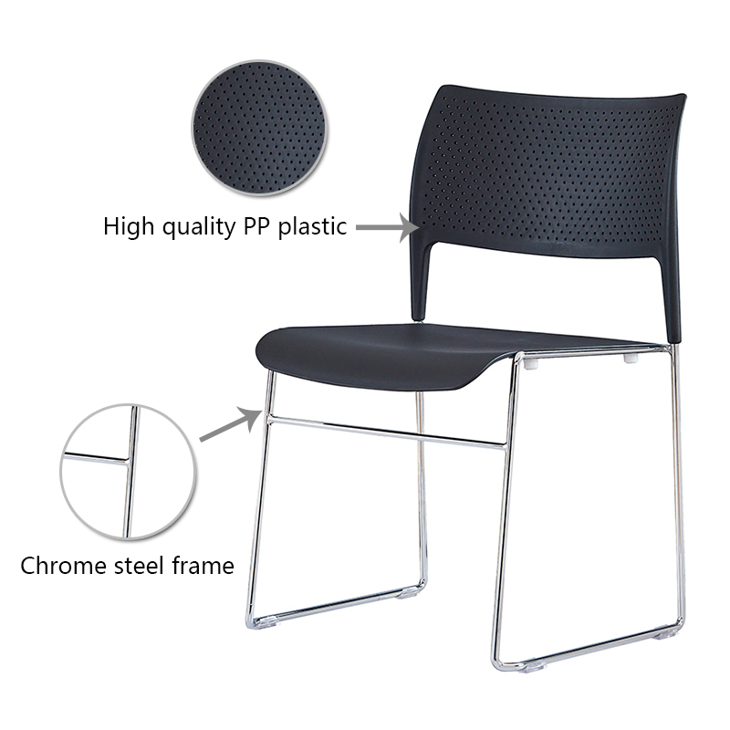 industry-leading stackable plastic chairs steel from manufacturer for hotel-6
