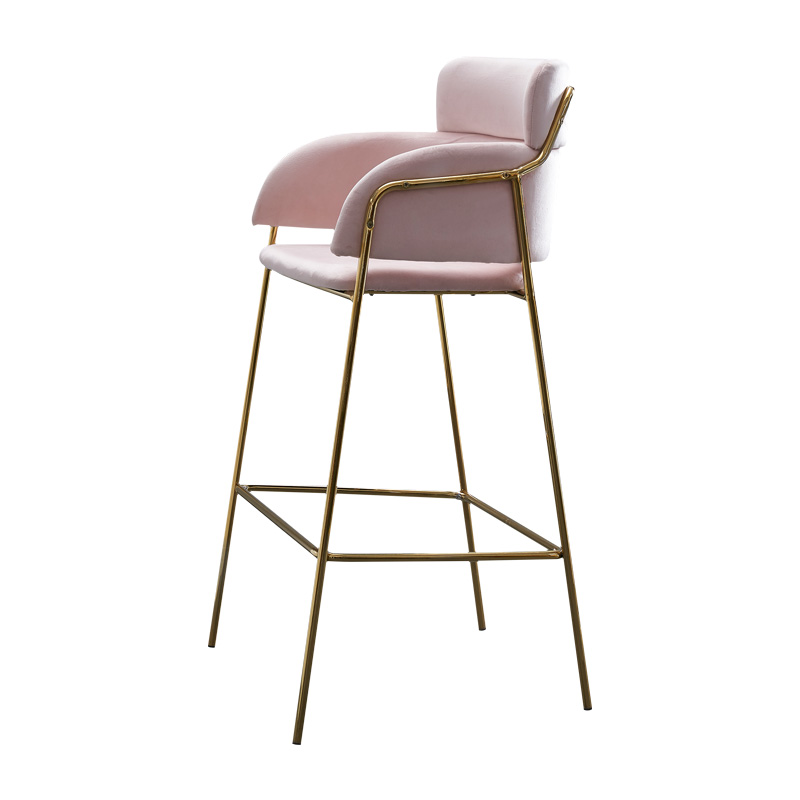 product-SP-BS428 Luxury lounge multiple colors metal with armrests cafe high bar chair-Uptop Furnish