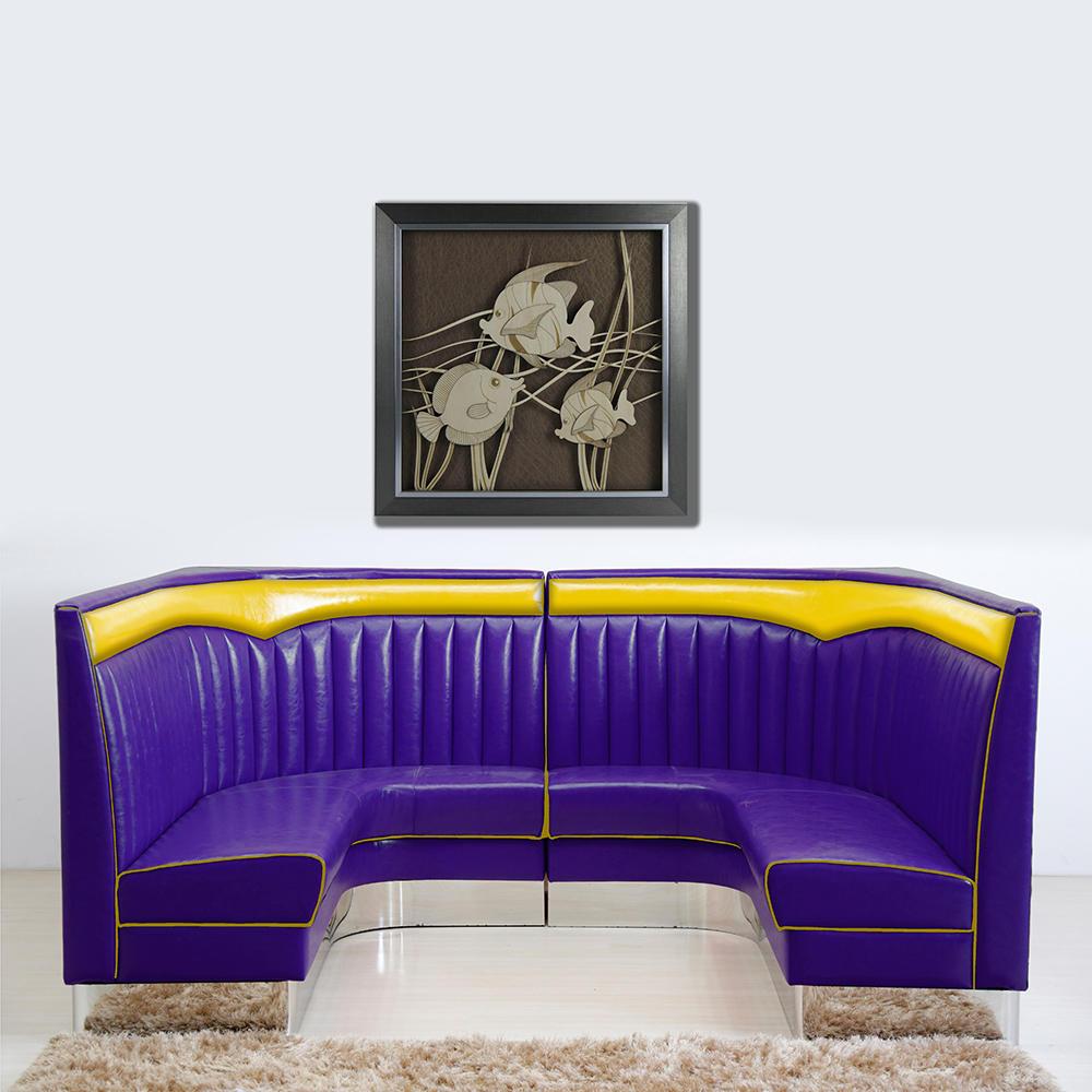 (SP-KS258) Fashion leather sofa set furniture restaurant booth