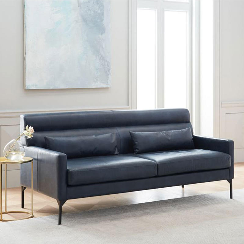 (SP-SF207) Modern leather covers elastic stretch office sofa set for office room