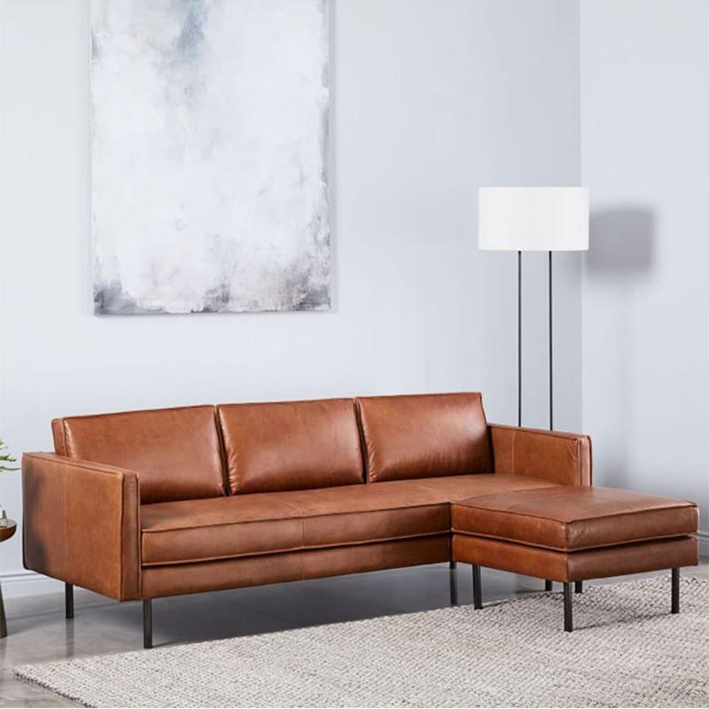 Modern luxury sofa furniture leather sectional living room sofa set (SP-SF203)