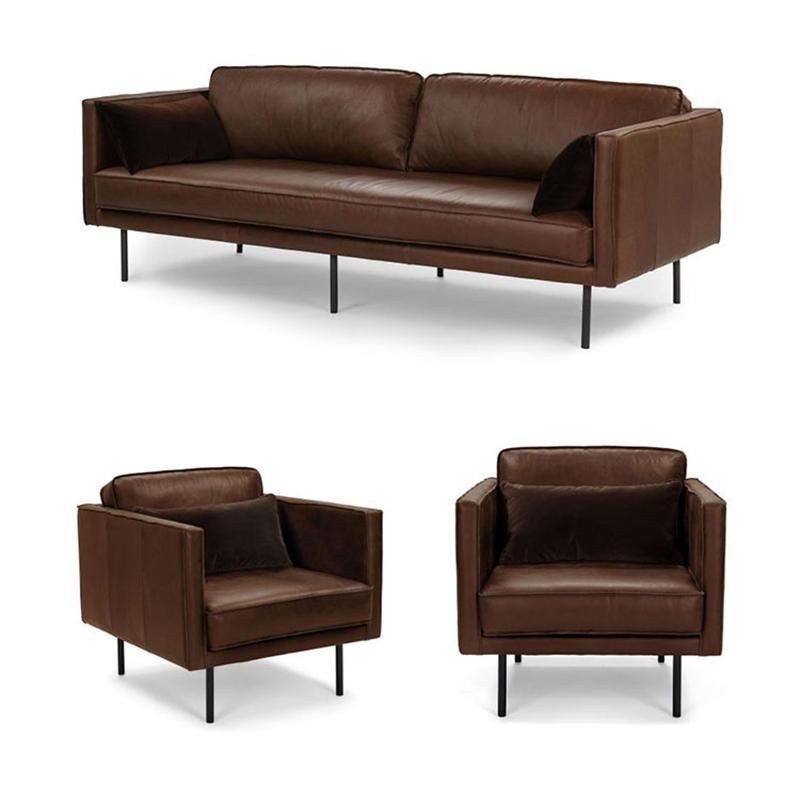 Modern simple living room  leather furniture sofa set designs (SP-SF206)