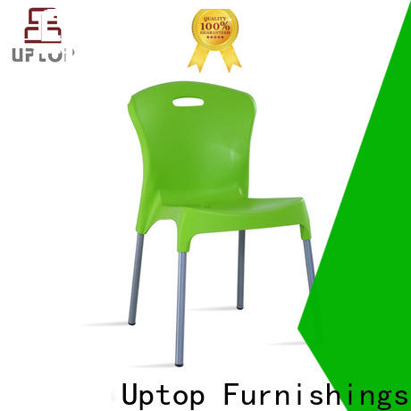 Various style hotel plastic chairs uptop from manufacturer for public