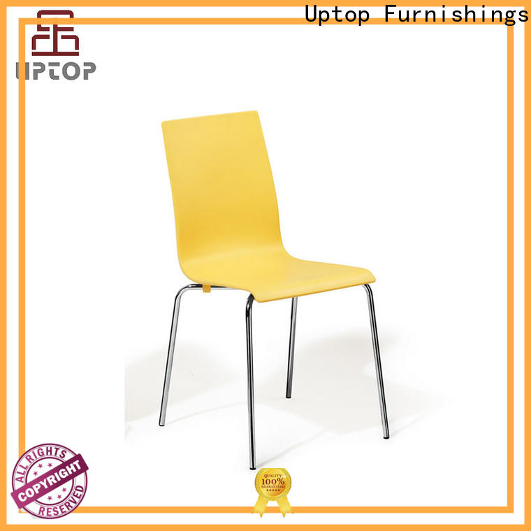 Uptop Furnishings newly stackable plastic chairs at discount for hotel