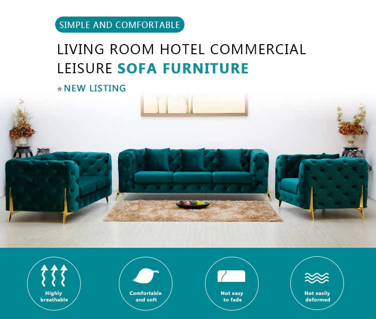 product-Uptop Furnishings-SP-KS255C Leisure hotel apartment fabric sofa furniture-img