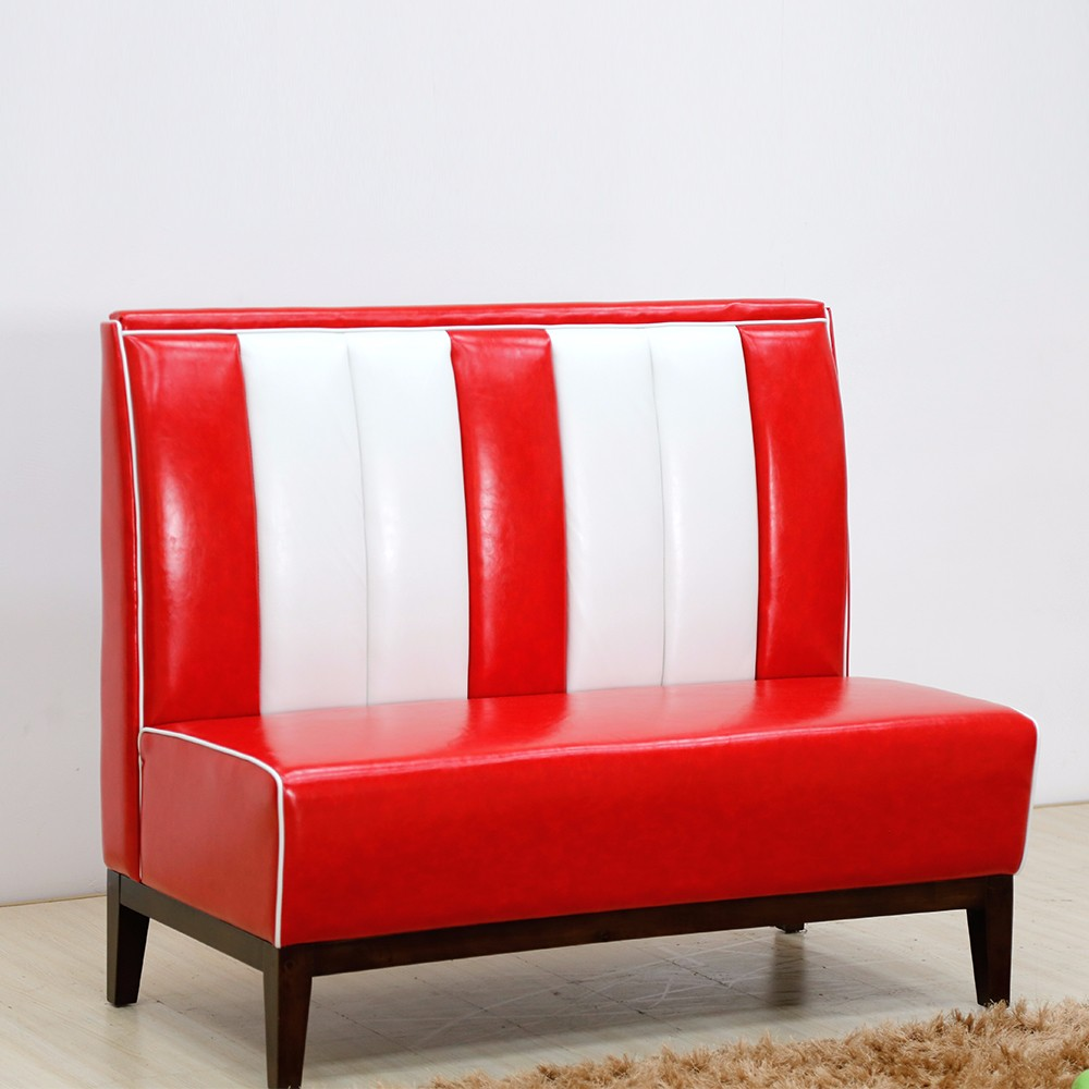 product-Uptop Furnishings-SP-KS261 1950s American leather sofa restaurant booth-img