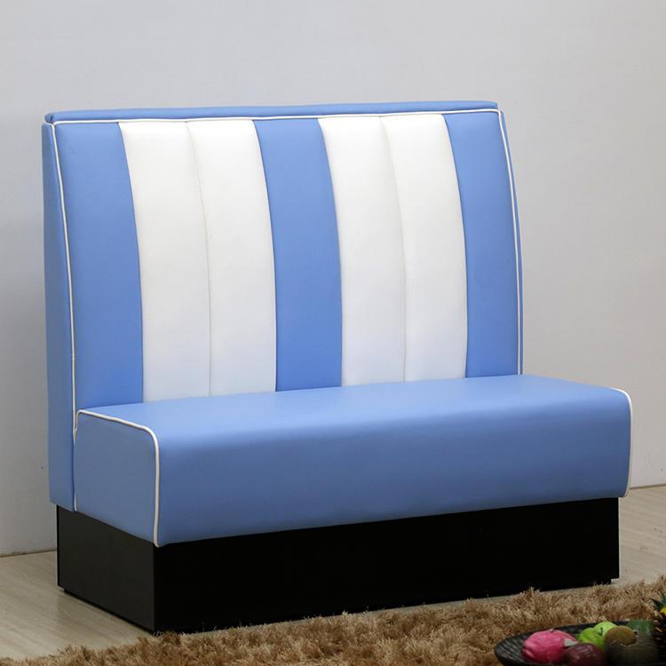 (SP-KS269) Restaurant furniture blue sofa booth seating