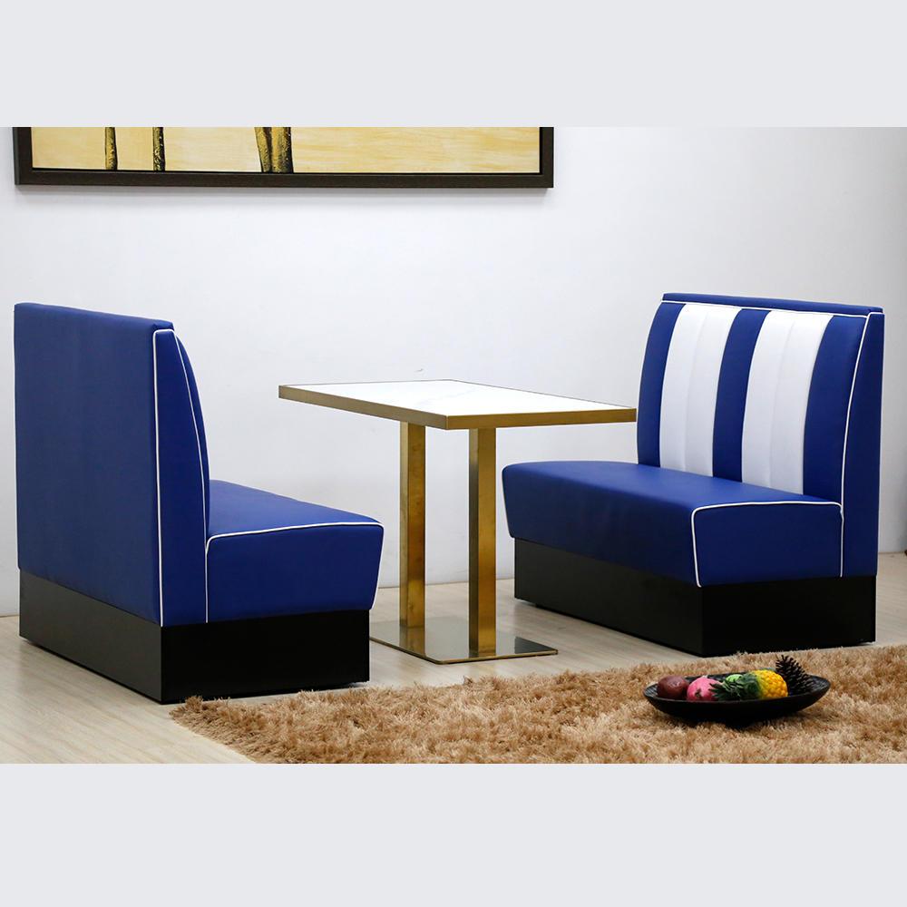 (SP-KS269-blue+white) 1950s Retro American restaurant sets sofa booth