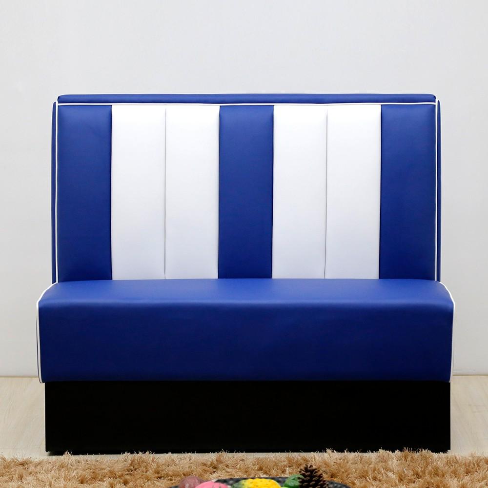 product-SP-KS269-blue+white 1950s Retro American restaurant sets sofa booth-Uptop Furnishings-img