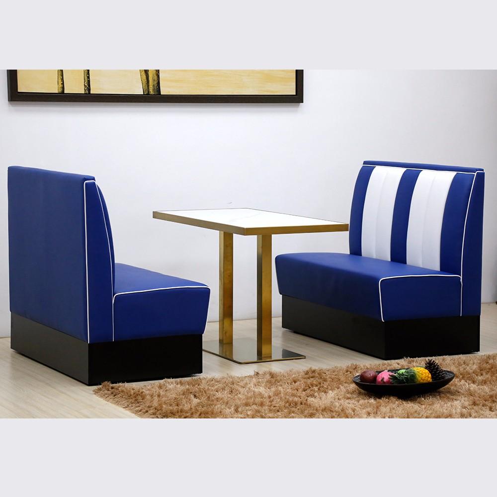 product-Uptop Furnishings-SP-KS269-blue+white 1950s Retro American restaurant sets sofa booth-img