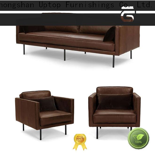 executive waiting room sofa black China manufacturer for school