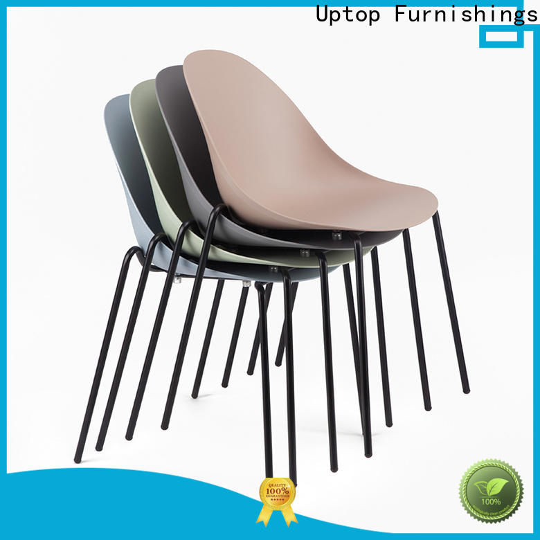 Uptop Furnishings steel plastic outdoor chairs at discount for hotel