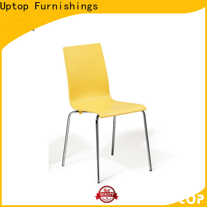 Uptop Furnishings stackable plastic dining chairs bulk production for hotel