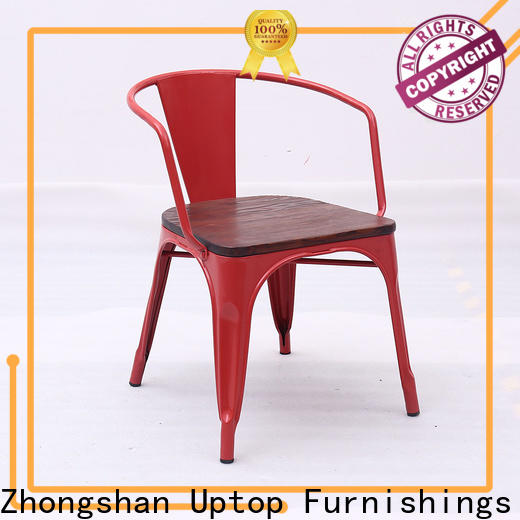 Uptop Furnishings high teach white metal chairs for public