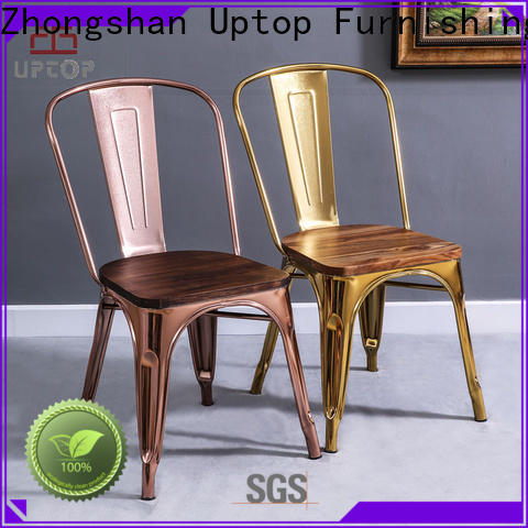 Uptop Furnishings rusty metal kitchen chairs bulk production for public