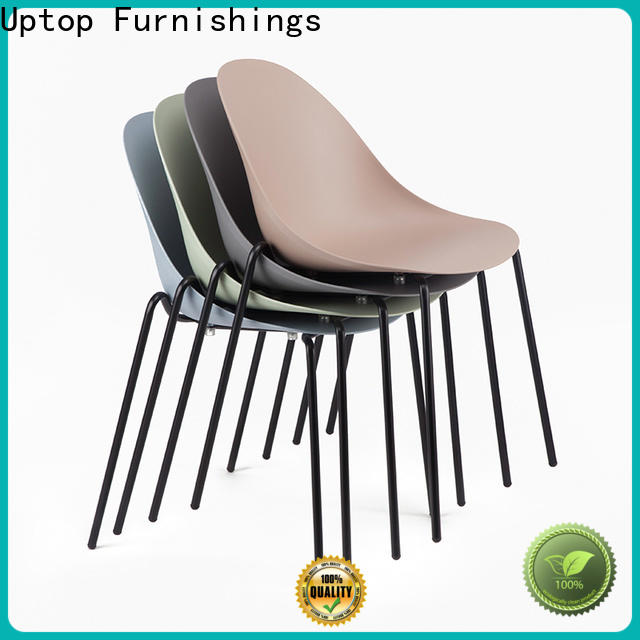 Uptop Furnishings Popular design cafe plastic chairs for restaurant