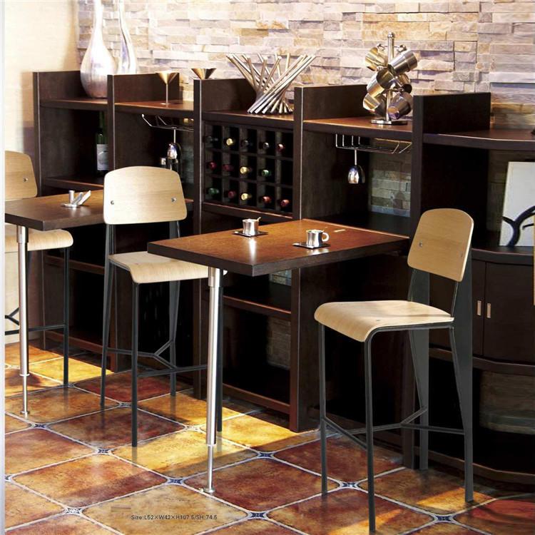 high teach Bar table &chair set factory price for public-1