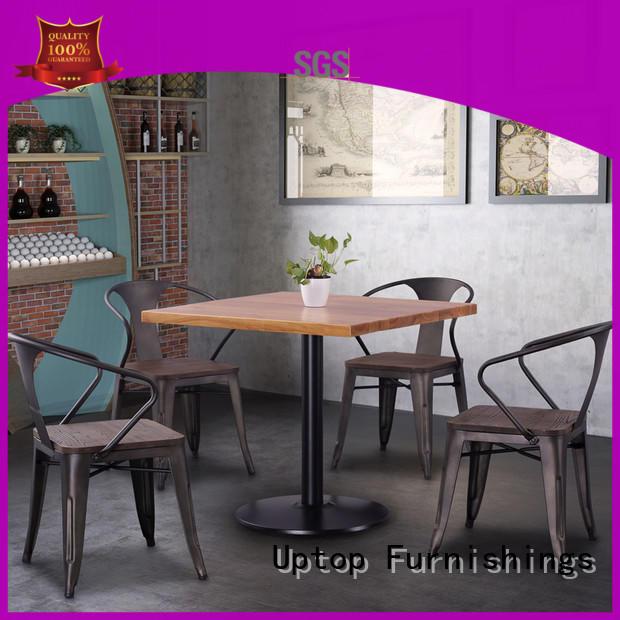 Uptop Furnishings high teach metal restaurant chairs bulk production for hotel