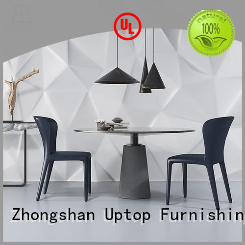 Uptop Furnishings legs upholstered dining room chairs bulk production for cafe