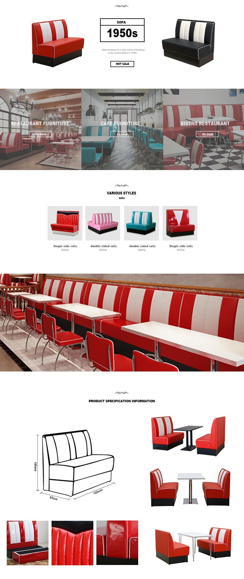 executive cafe booth seating restaurant at discount for hotel-2