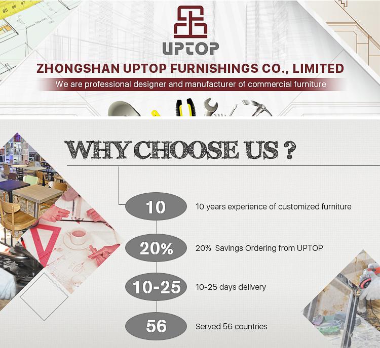 Uptop Furnishings stackable restaurant metal chair bulk production for restaurant-1