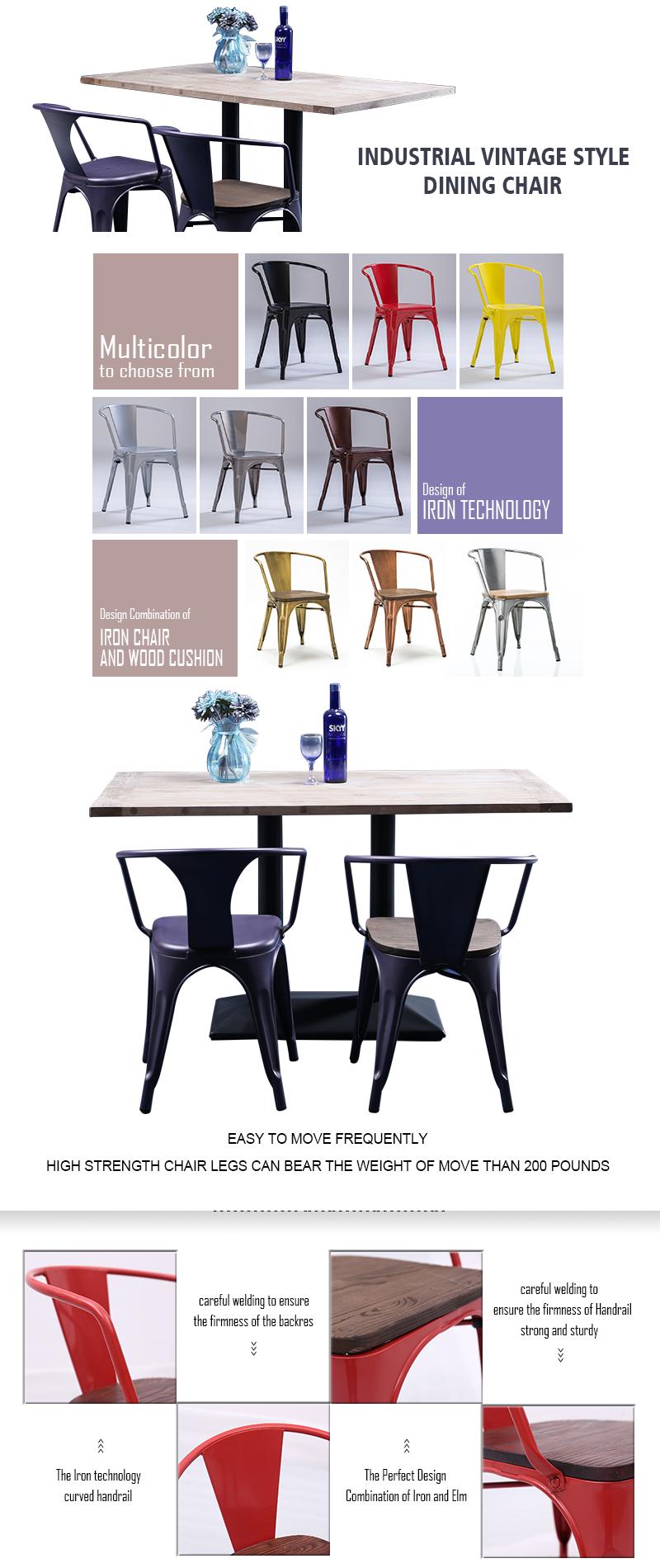 Uptop Furnishings stackable restaurant metal chair bulk production for restaurant-2
