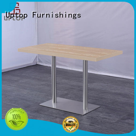 Uptop Furnishings industrial large round dining table bulk production for airport