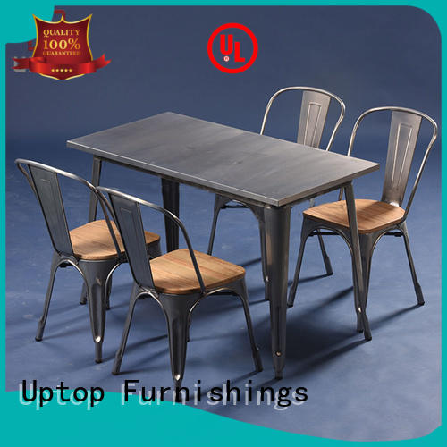Uptop Furnishings stackable restaurant tables and chairs bulk production for airport