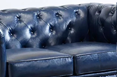Uptop Furnishings-Office Modern Sofa Classic Scroll Arm Tufted Button Leather Sofa-2