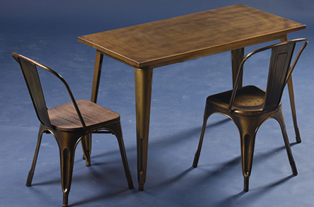 Uptop Furnishings-Restaurant Tables And Chairs Dining Table Set 4 Seater-1