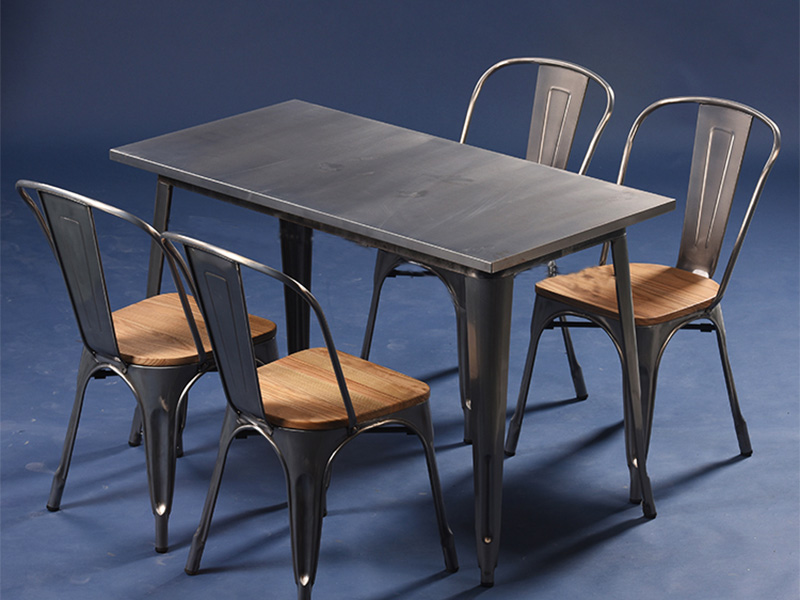 Uptop Furnishings-Restaurant Tables And Chairs Dining Table Set 4 Seater-3